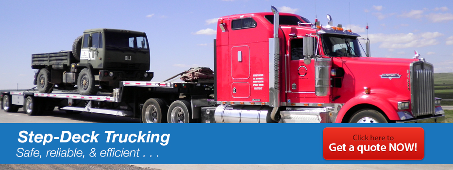 Step-Deck Trucking Services - Ace Doran Hauling & Rigging