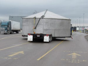 Ace Doran hauls super-size steel tanks