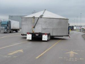 Ace Doran hauls super-size steel tanks