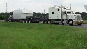 Bennett hauls wind turbine hubs